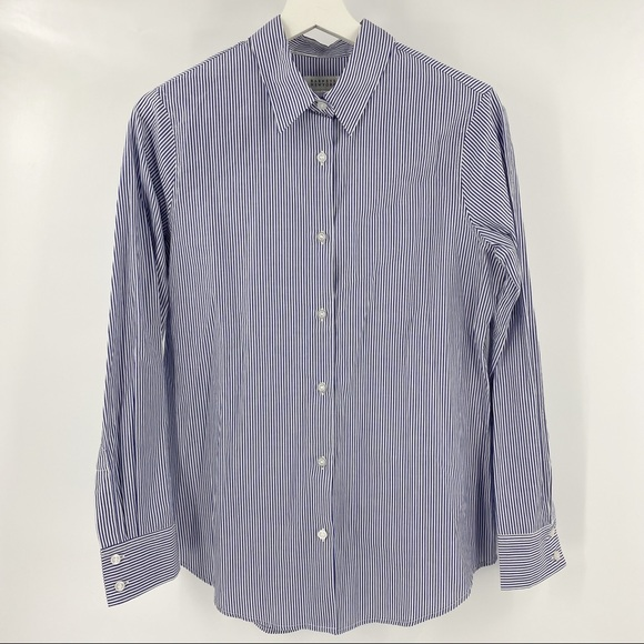 Barneys New York striped button down shirt